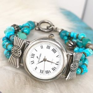 Peyote Bird Sterling Turquoise Women's Watch Works